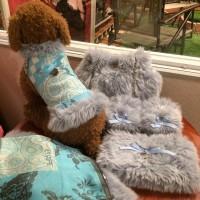#dog#dogcollection#blue#fur#わんちゃんの服 #おそろい#ハンドメイド#リボン#メダル#シルバー#ギフト#arcobalenoギャラリー #argento #arcobaleno ワンちゃんの洋服とセット♥️