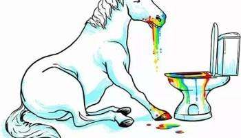 rainbow puke dog puke rainbow englishclass light drawing