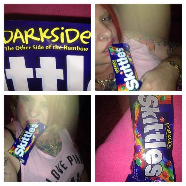 newcandy #skittles taste the #darkside of the #rainbow