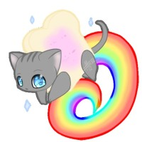 Chibi nyan cat ❤💙💚💛💜 #nyancat#cat#nyan#chat#animal#chibi#arcenciel#manga#anime