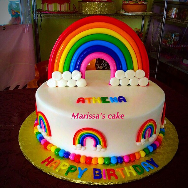 Birthday Cake Ideas Rainbow : Rainbow birthday cake. #arcoiris #clouds #rainbow #colors ...