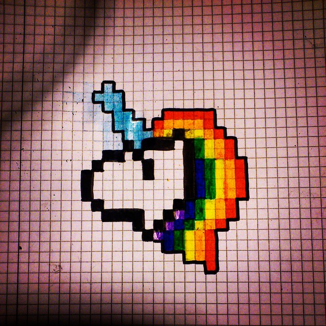 Pixel Art Rainbow Unicorn Related Keywords Suggestions Pixel Art