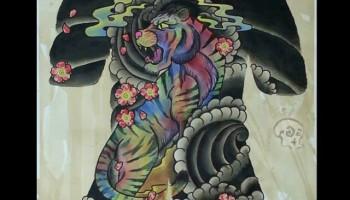 new painting. multi coloured tiger. it kinda failed doe…. wooops ... f0b4397a7