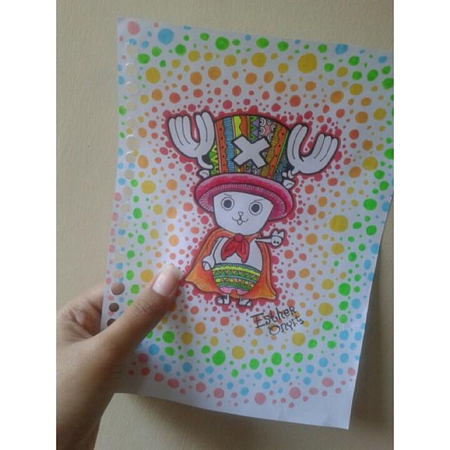 Love This Hahaha Drawing Doodles Doodle Artwork Art Colours Onepiecechopper Onepiece Anime Instalike Hobby Sketchbook Rainbow Like4like Chopper Chibi Cute Artist Rainbowgram