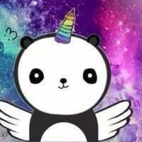 #pandacornio #unicornio #panda #arcoiris #galaxia #galaxy #alas #normal