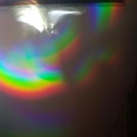 Un trillón de CDs viejos + Sol #cds #rainbow #arcoiris #luz #trippy