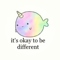 Awe its so #kawaii !!!  #rainbow #narwhal #different