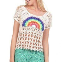 Blusa #crochet #arcoiris