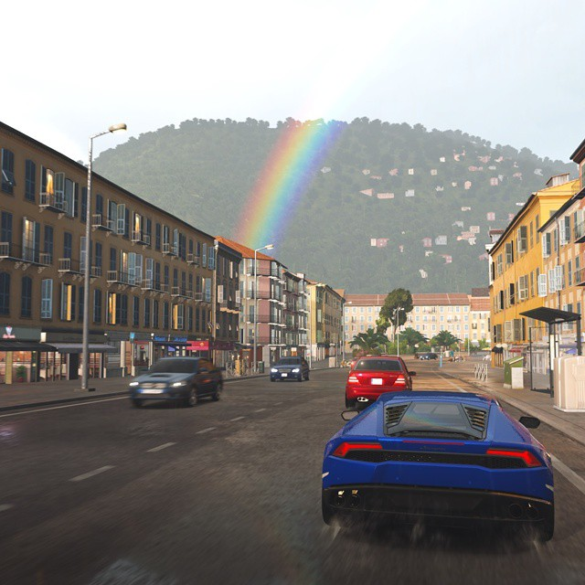 Rainbow And Lamborghini Huracan Supercar Sportcars Car