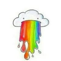 #Trennwand #Wolke #Rainbow #Regenbogen #bunt #kotze 💨👅☁☁