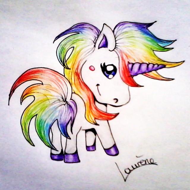 Cute Chibi Rainbow Unicorns