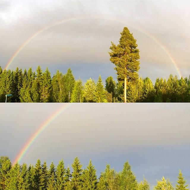 Olipas siinä sateenkaarta. #rainbow #oulu #kaakkuri #sateenkaari #kokonainen