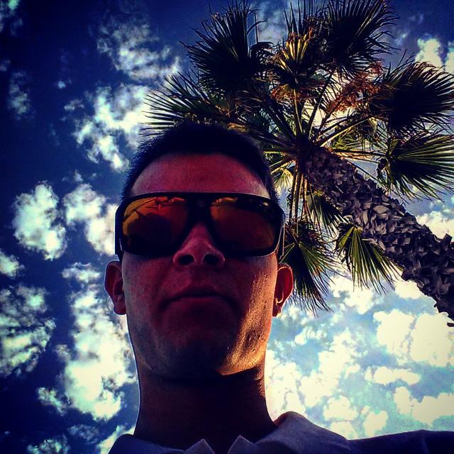 #beach #palmtree #sitges #rainbow #sky