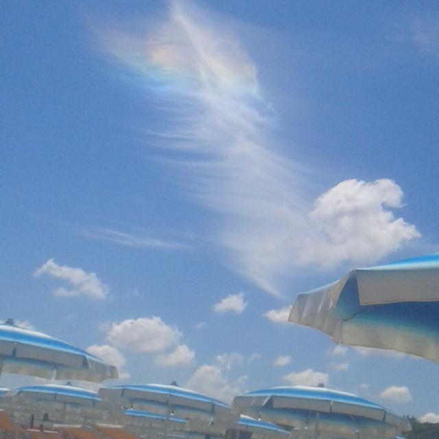 #stupenda#nuvola#arcobaleno#al#mare * *