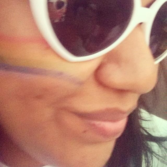 Amé ese coso de colores mi cachete 😍 #pride #lovewins #diadelorgullo #yomarcho #arcoiris #love #heart