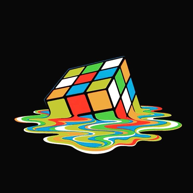 Rubix Cube Melting Wallpaper #rubixcube #melting #wallpaper #rainbow #food #starbucks #inthekitchen #colorful