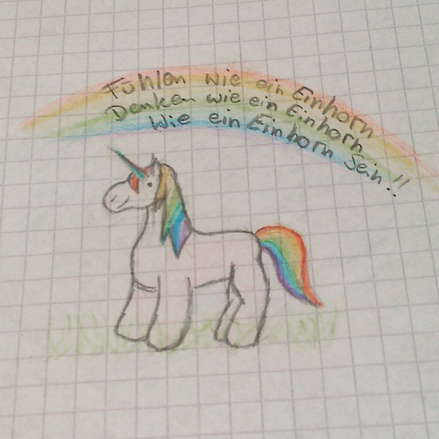 #einhorn #regenbogen #fühlen #denken #sein #wieeineinhorn #selbstgezeichnet #einhornwiese @sekundenstxll #buntstiftzeichnung