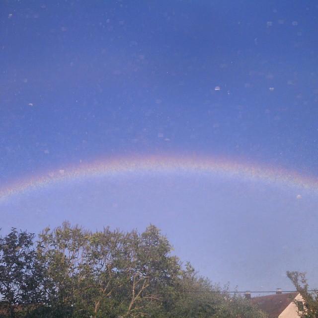 #rainbow #sky #wonderful #moment #blue #nature #natural #summer #regenbogen #natur #himmel