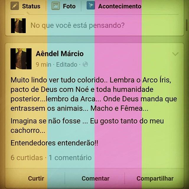 #instagood #arcoiris #protesto #arcadenoe #brazil #brasil