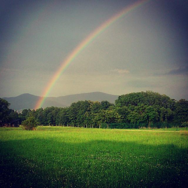 #tecza #tyncza #rainbow #rower #ride #gt #ustron #pada #deszczyk #regenbogen