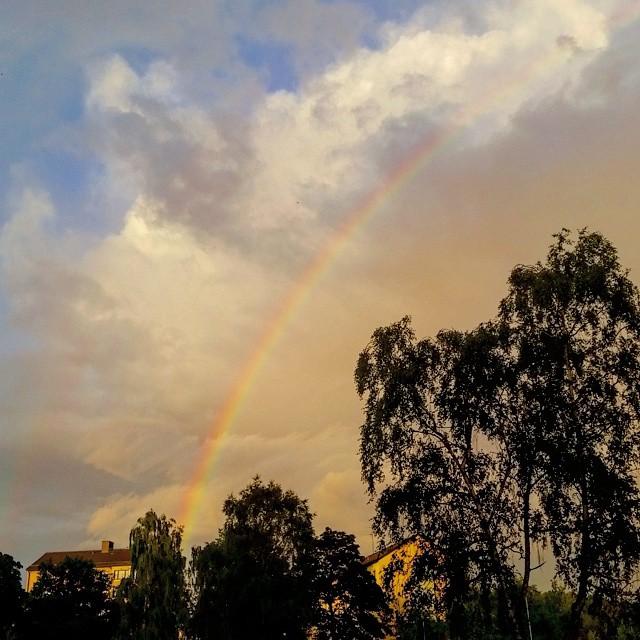 #rainbow #regnbåge #arcoiris #sweden #sverige #suecia